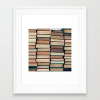 bookworm Framed Art Prints featuring Bookworm by Laura Ruth