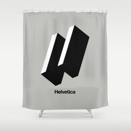 HAPPY HELVETICA Shower Curtain