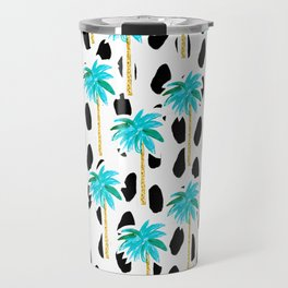 Palm Trees and Dots Travel Mug