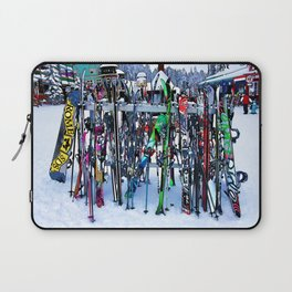 Ski Party - Skis and Poles Laptop Sleeve