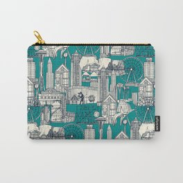 Seattle indigo teal Carry-All Pouch