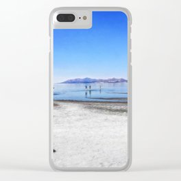 Dreaming of beaches Clear iPhone Case