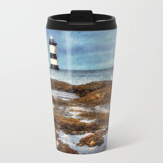 Penmon Lighthouse Metal Travel Mug