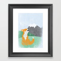 The Wild Fox Framed Art Print