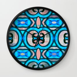 Pinky Blues Wall Clock
