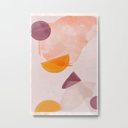Picnic Leftovers | Shape and Texture Study | Metal Print