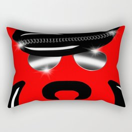 Gay Clone on Red Rectangular Pillow