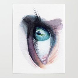 Blue Green Eye Poster