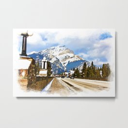 Cascade Mountain - Banff  Alberta Canada Metal Print
