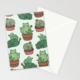 Cacti Cat pattern Stationery Cards
