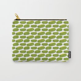 Pattern with green cucumbers Carry-All Pouch