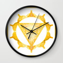 You Are My Sunshine Abstract Chakra Art  Wall Clock