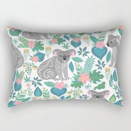 Floral Koala Rectangular Pillow