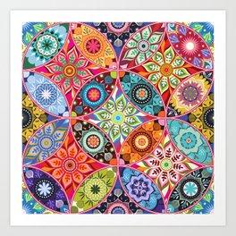 Moroccan bazaar Art Print