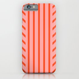 Lined Pink iPhone Case