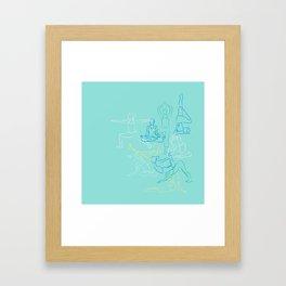 Turquoise Yoga Framed Art Print