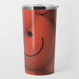 Orange Smileys Travel Mug