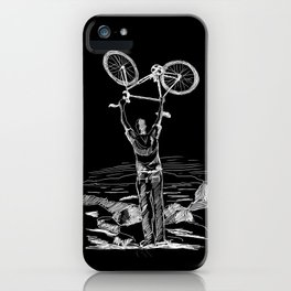 Bike Contemplation iPhone Case