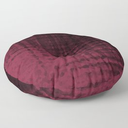 Black maroon mosaic Floor Pillow