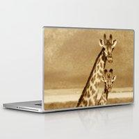 giraffes Laptop & iPad Skins featuring Giraffes by haroulita