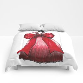 Red Bow Dress Comforters