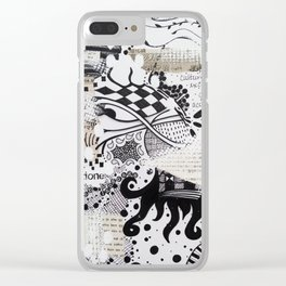 Foreign Language Clear iPhone Case