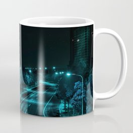 Night highway street, city lights, no people, empty (Nantong, China) (2015-8N-NHS) Coffee Mug