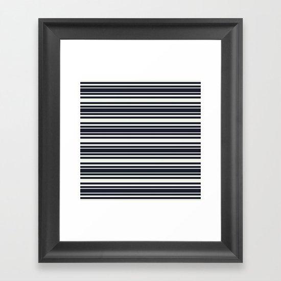 Tisker Black & White Framed Art Print