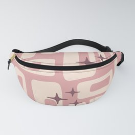 Retro Mid Century Modern Abstract Pattern 576 Dusty Rose Fanny Pack