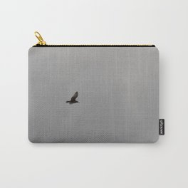 Seagull in Overcast Sky Carry-All Pouch