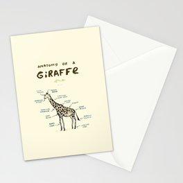 Anatomy of a Giraffe Stationery Cards