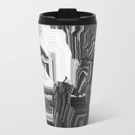 Glitch portriat Travel Mug