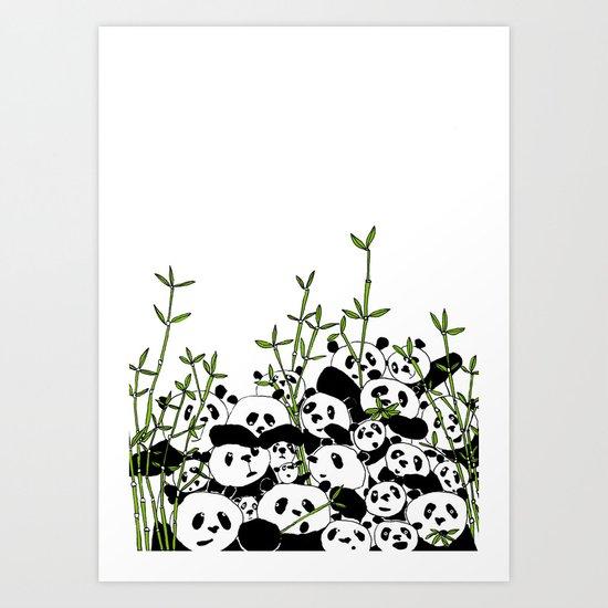 A Pandemonium of Pandas  Art Print