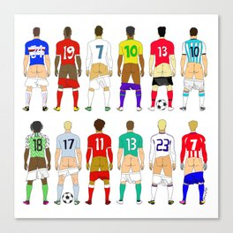 Soccer Butts Canvas Print