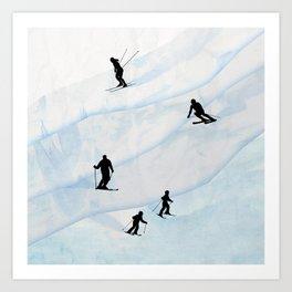 Skiing Hills Art Print