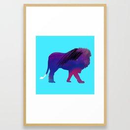Abstract Lion Framed Art Print