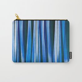 Harmony and Peace Blue Striped Abstract Pattern Carry-All Pouch
