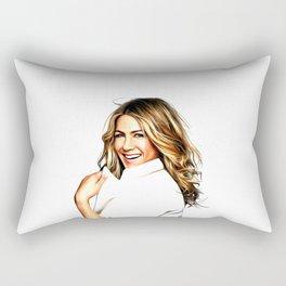 Jennifer Aniston - Celebrity Art Rectangular Pillow