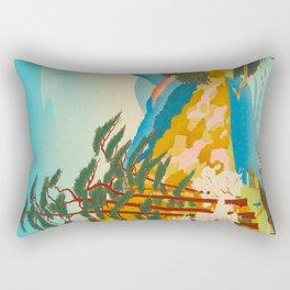 Kawai Kenji Arashiyama Japan Japanese Woodblock Print Rectangular Pillow