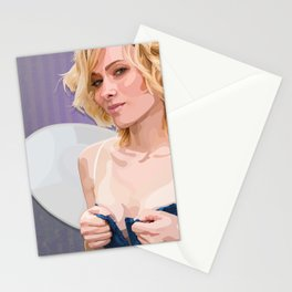 the feisty faerie dares you to look away Stationery Cards