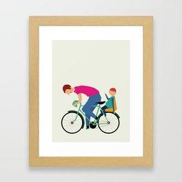 Balade à vélo Framed Art Print