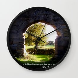 Unimagined Blessings Wall Clock