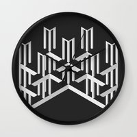 illusion Wall Clocks featuring Illusion by designpraxis