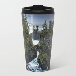 Oregon's Natural Bridges at sunset Travel Mug