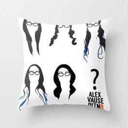 Alex Vause Hairstyles Throw Pillow