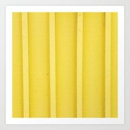 Urban Wood - Canary Yellow Art Print