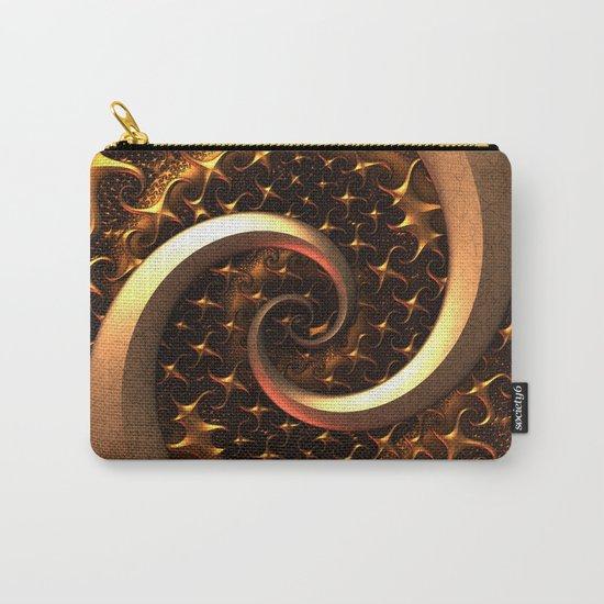 Golden Spirals Carry-All Pouch