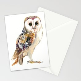 Barn Owl home decor, owl lover gift Stationery Cards