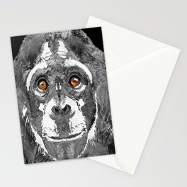 Black And White Art - Monkey Business 2 - By Sharon Cummings Stationery Cards