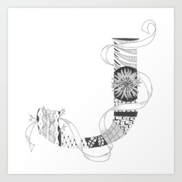 """Zenletter """"J"""" Art Print"""